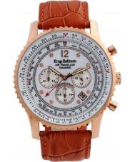 Krug Baümen 600701DS Mens Air Traveller Diamond Watch
