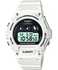 Casio W-214HC-7AVEF Collection White Chronograph Watch
