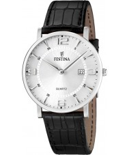 Festina F16476-3 Mens Black Leather Strap Watch