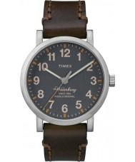 Timex TW2P58700 Mens Waterbury Brown Leather Strap Waterbury Watch