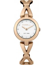 Fiorelli FO003RGM Ladies Rose Gold Plated Cross Over Bangle Watch