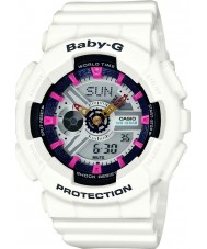 Casio BA-110SN-7AER Ladies Baby-G World Time White Chronograph Watch