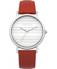 Karen Millen KM154RA Ladies Red Leather Strap Watch