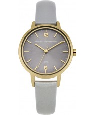 French Connection FC1280EG Ladies Grey Leather Strap Watch