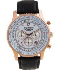 Krug Baümen 600702DS Mens Air Traveller Diamond Watch