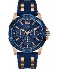 Guess W0366G4 Mens Oasis Two Tone Silicone Strap Watch