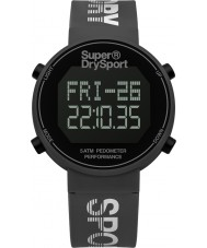 Superdry SYG203E Mens Digi Pedometer Grey Silicone Strap Watch