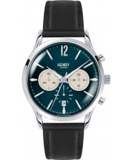 Henry London HL41-CS-0039 Mens Knightsbridge Black Leather Chronograph Watch