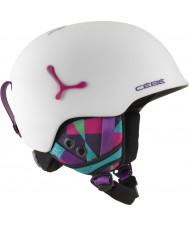 Cebe CBH188 Suspense Deluxe Matte White Graphics Ski Helmet - 54-56cm