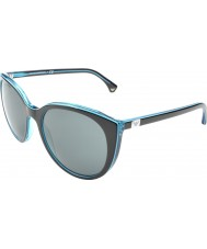 Emporio Armani EA4043 55 Essential Leisure Black Azure 535087 Sunglasses
