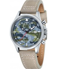 AVI-8 AV-4013-09 Mens Hawker Hurricane Stone Leather Strap Chronograph Watch