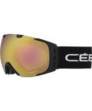 Cebe CBG84 Origins L Black Block - Light Rose Flash Gold Ski Goggles
