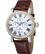 Thomas Earnshaw ES-8031-02 Mens Maskelyne Brown Croco Leather Strap Watch