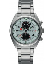 Swiss Military 6-5227-04-009 Mens Airborne Silver Chronograph Watch