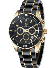 Klaus Kobec KK-20005-01 Mens Chronos Gold Plated and Black Ceramic Watch