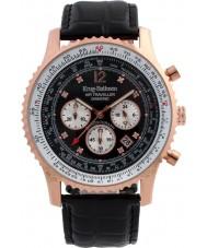 Krug Baümen 600703DS Mens Air Traveller Diamond Watch