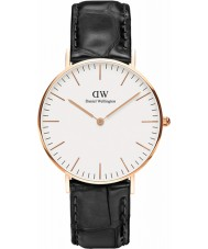Daniel Wellington DW00100041 Ladies Classic Reading 36mm Black Leather Strap Watch