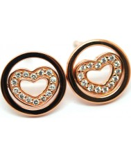 Babette Wasserman ER189PG Ladies Twisting Heart Earring