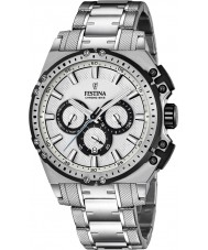 Festina F16968-1 Mens Chrono Bike Silver Steel Chronograph Watch