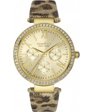 Caravelle New York 44N103 Ladies Glitz Metallic Leopard Pat Watch