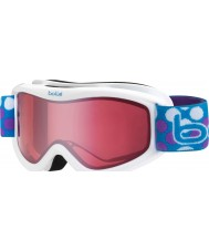 Bolle 21091 Volt White Dots - Vermillion Ski Goggles - 6 plus Years