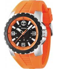 Timberland 14478JSTB-02P Mens Ballard Orange Rubber Strap Watch