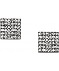 Fossil JF02111040 Ladies Vintage Glitz Silver Square Stud Earrings