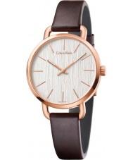 Calvin Klein K7B236G6 Mens Even Brown Leather Strap Watch