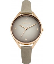 Karen Millen KM130ERG Ladies Grey Leather Strap Watch