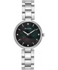 Bulova 96S173 Ladies Diamonds Silver Steel Bracelet Watch
