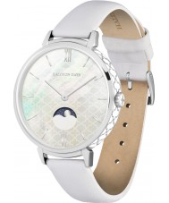 Chriselli Halcyon Days Ladies Agama Moonphase White Leather Strap Watch