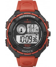 Timex Originals T49984 Mens Vibe Shock Flame Red Rubber Chronograph Watch