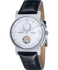 Thomas Earnshaw ES-8012-05 Mens Round Providence Black Croco Leather Strap Watch
