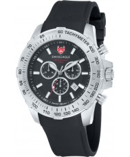 Swiss Eagle SE-9065-01 Mens Herzog Black Chronograph Watch