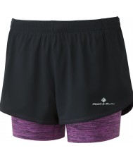 Ronhill RH-002262Rh-00224-8 Ladies Stride Twin Shorts