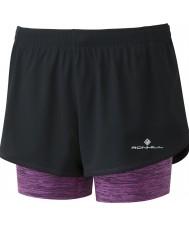 Ronhill RH-002262Rh-00224-8 Ladies Stride Twin Shorts