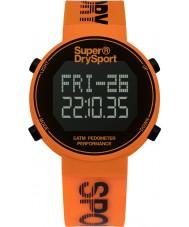 Superdry SYG203O Mens Digi Pedometer Orange Silicone Strap Watch