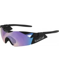 Bolle 6th Sense S Matte Black Blue-Violet Sunglasses