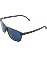 Polo Ralph Lauren PH4092 58 Matte Blue 550680 Sunglasses