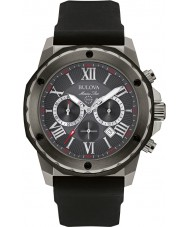 Bulova 98B259 Mens Marine Star Black Silicone Strap Chronograph Watch