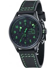 AVI-8 AV-4036-02 Mens Hawker Hunter Black Chronograph Watch with Extra Green Nylon Strap