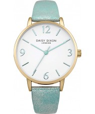 Daisy Dixon DD007AUG Ladies Rosie Slim Blue PU Leather Strap Watch