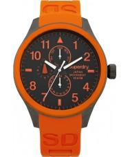 Superdry SYG110O Mens Scuba Multi Orange Silicone Strap Watch