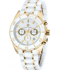 Klaus Kobec KK-20005-02 Mens Chronos Gold Plated and White Ceramic Watch
