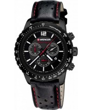 Wenger 01-0853-108 Mens Roadster Black Leather Chronograph Watch