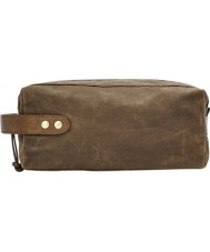 Fossil MLG0400200 Mens Brown Waxed Canvas Shave Kit