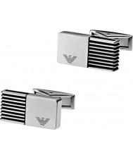 Emporio Armani EGS2071040 Mens Flow Silver Steel Cufflinks