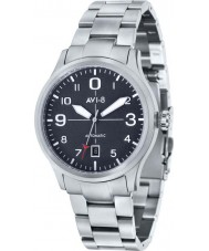 AVI-8 AV-4021-11 Mens Flyboy Automatic Silver Steel Bracelet Watch