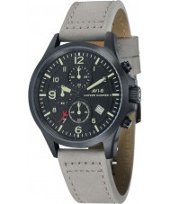 AVI-8 AV-4001-08 Mens Hawker Hurricane II Light Grey Leather Strap Chronograph Watch