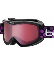 Bolle 21092 Volt Black Dots - Vermillion Ski Goggles - 6 plus Years